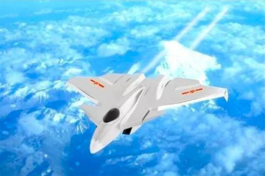解放軍第6代戰機示意圖。(兵工科技)