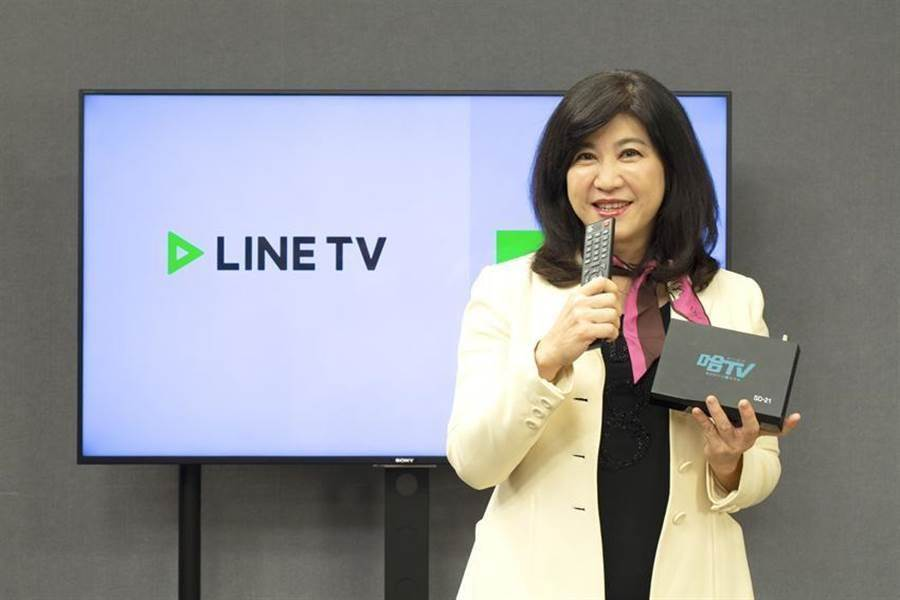 台數科26日宣布,與LINE TV正式攜手合作,LINE TV26日正式上架至台數科,創下LINE TV在亞洲地區與有線電視業者合作首例 ,圖為台數科集團董事長廖紫岑。圖/台數科提供