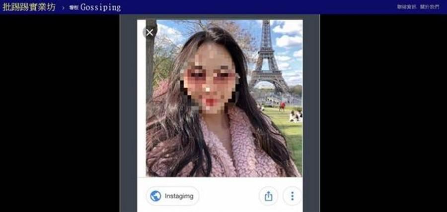 網友搜出日前批評地勤長相的長榮空姐正面照。(圖/翻攝自PTT)
