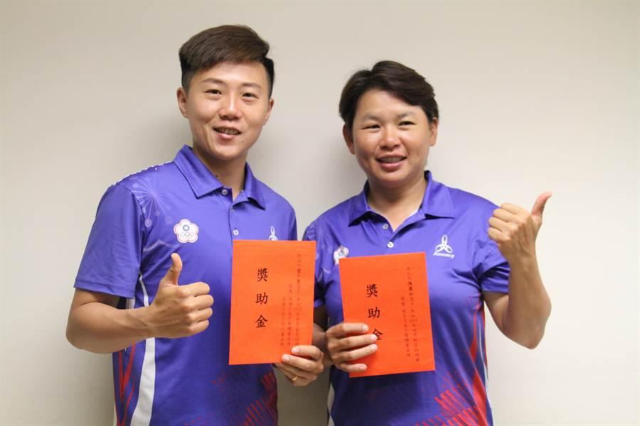 射箭國手雷千瑩(左)、陳麗如(右)在世錦賽勇奪3金。(譚宇哲攝)