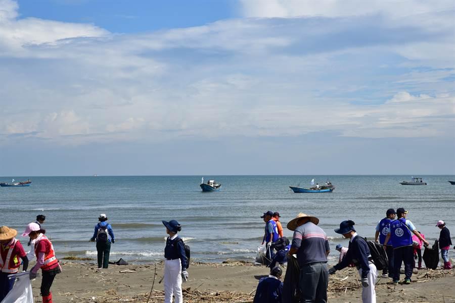 台中市政府推動海汙防制工作有成。(陳世宗攝)
