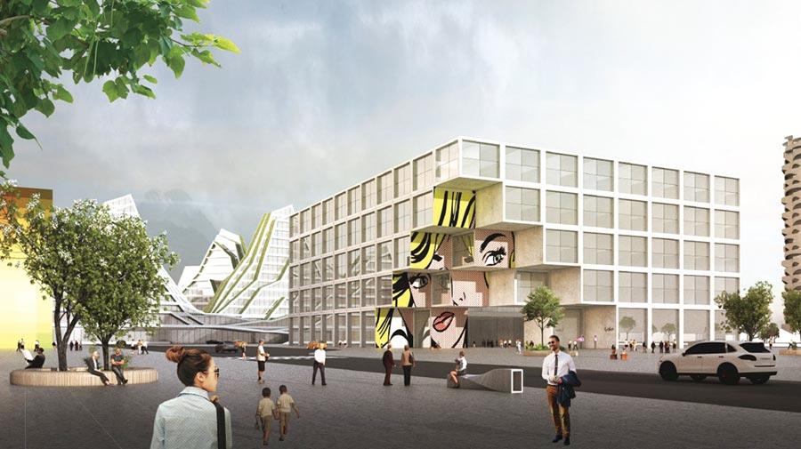 新天堂樂園2旅館示意效果圖。圖/台開提供