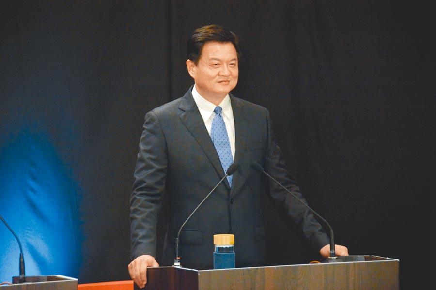 周錫瑋25日參加國民黨總統初選首場國政願景發表會。(林宏聰攝)