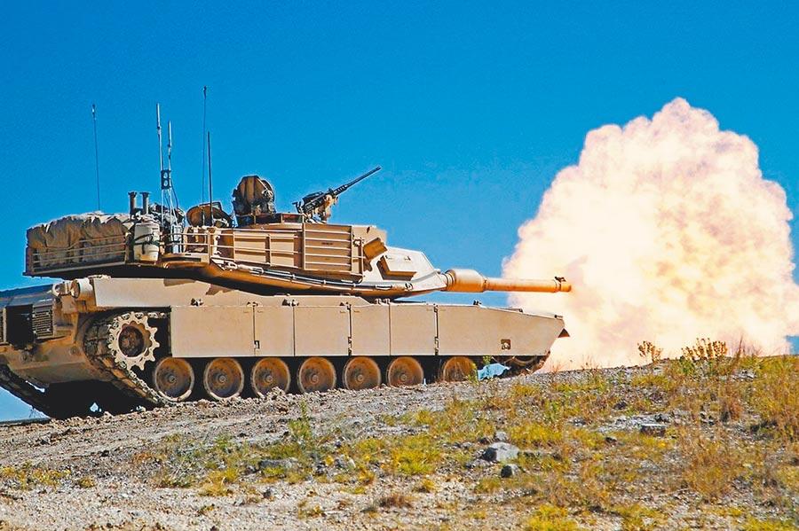 我國向美採購M1A2戰車(M1A2 Abrams Battle Tank)。(摘自網路)