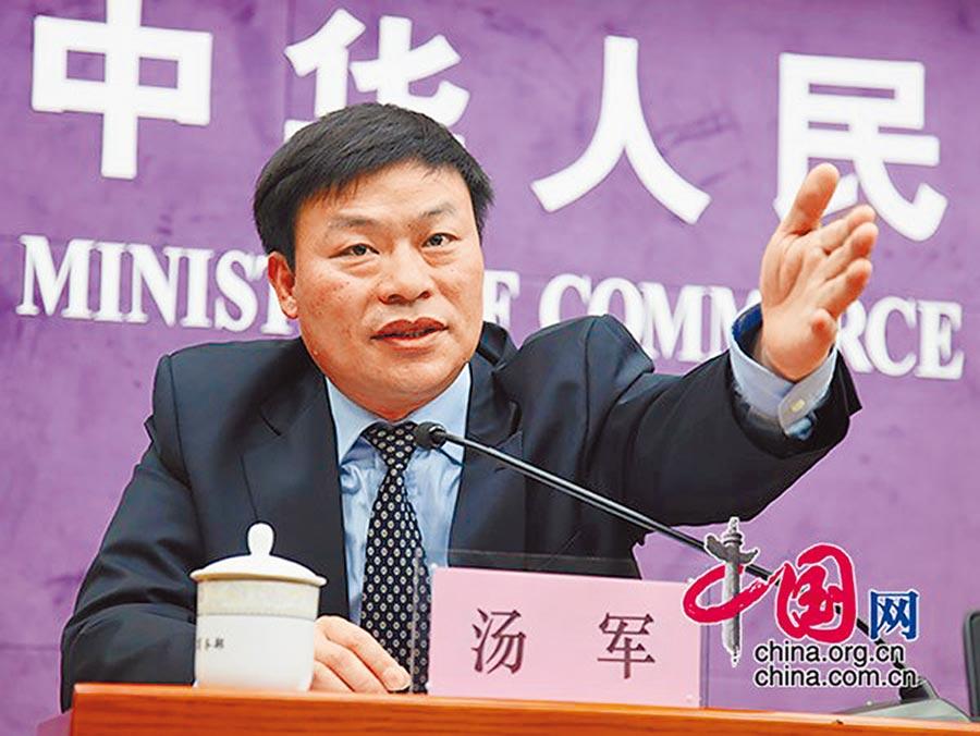中國機電商會第一副會長湯軍。(取自中國網)