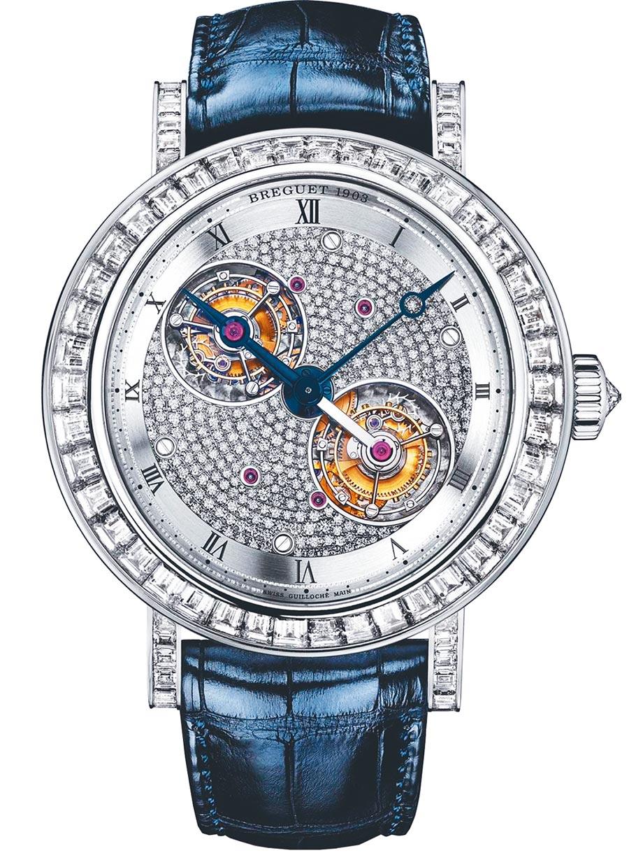 要價約2600萬元的寶璣5349 PT雙陀飛輪鑽表,是陀飛輪日慶祝活動上最受矚目的焦點。(Breguet提供)