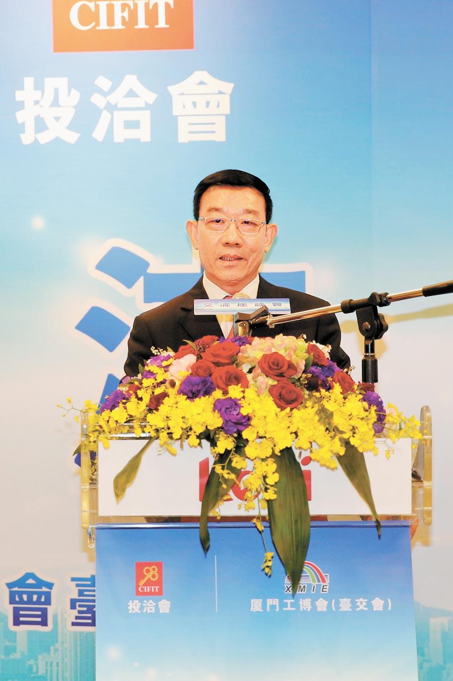 擔任中國機電產品進出口商會台北辦事處主任一職近六年半的李榮民將卸任。(中新社資料照片)