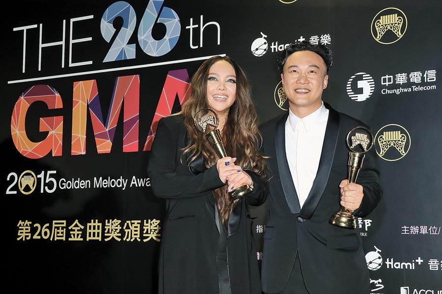 2015年6月27日,第26屆金曲獎頒獎典禮,陳奕迅、張惠妹榮登歌王歌后。(本報系資料照片)