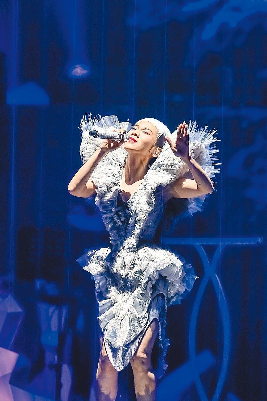 2018年1月6日,蔡健雅「列穆尼亞」演唱會。(本報系資料照片)