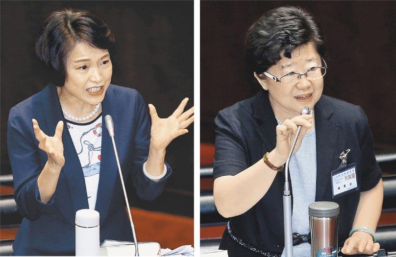 立法院昨審查大法官人事同意權,被問到敏感的中華民國疆域問題,被提名人楊惠欽(右)說:「很大很大」,被提名人蔡宗珍(左)則說:「請國會先行解決再討論」。(姚志平攝)