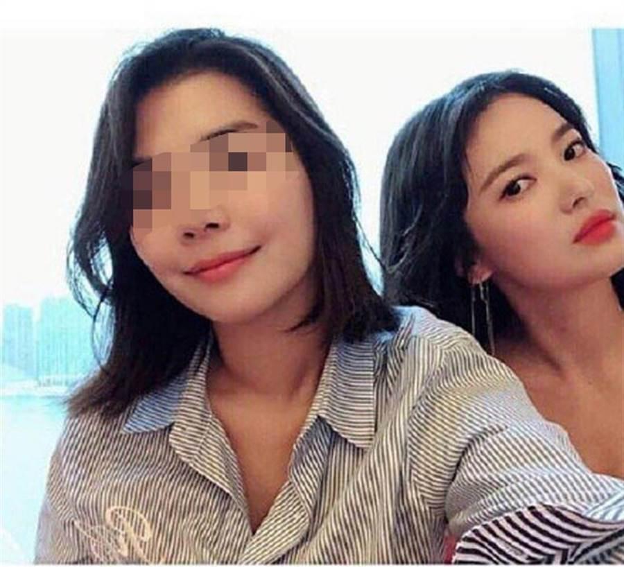 雖雙宋未針對偷吃傳聞做回應,然網友仍曝光了「小三」面貌。(翻攝自微博)