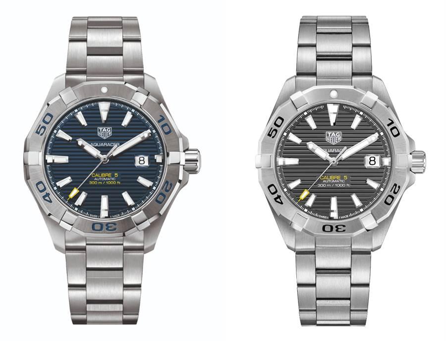 TAG Heuer泰格豪雅Aquaracer系列Calibre 5自動腕錶的錶面大且清晰易讀,展現大方氣息,防水的錶殼粗曠但有質感的外型,非常適合從業人員,大器的外觀在面試時,可讓身經百戰的業務主管們,透過這款腕錶感受到面試者已經做好成為頂尖業務員的準備與決心。(圖/品牌提供)