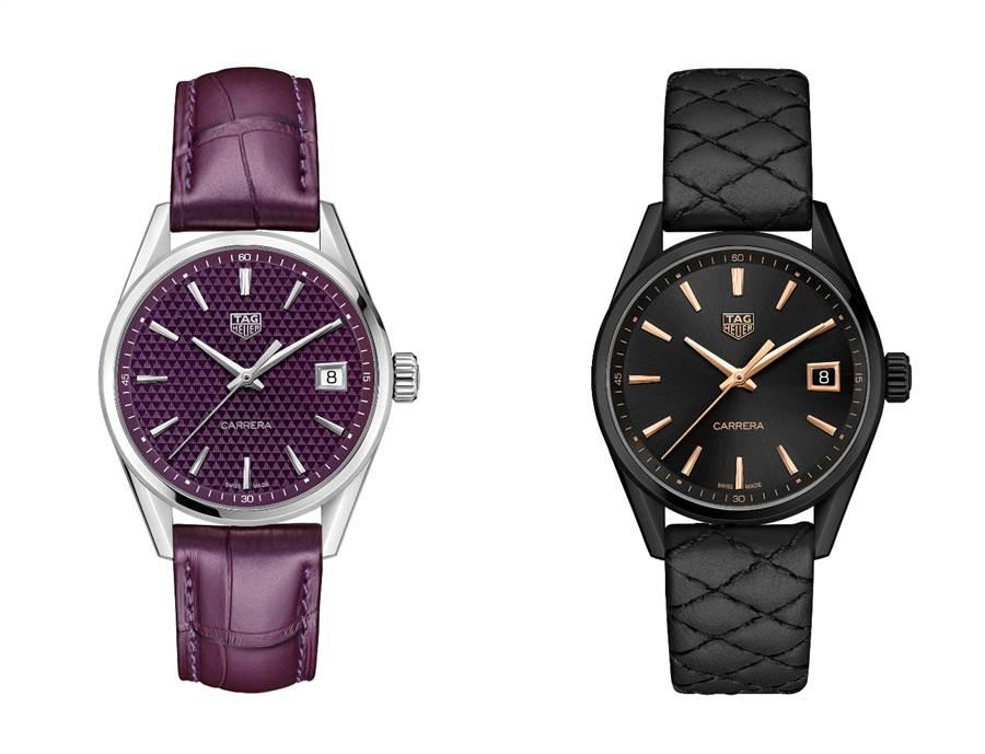 TAG Heuer泰格豪雅Carrera Lady系列女錶有多種顏色錶面及不同材質的錶帶,在面試服裝的整體搭配上,成為展現個人品味的重要單品。(圖/品牌提供)