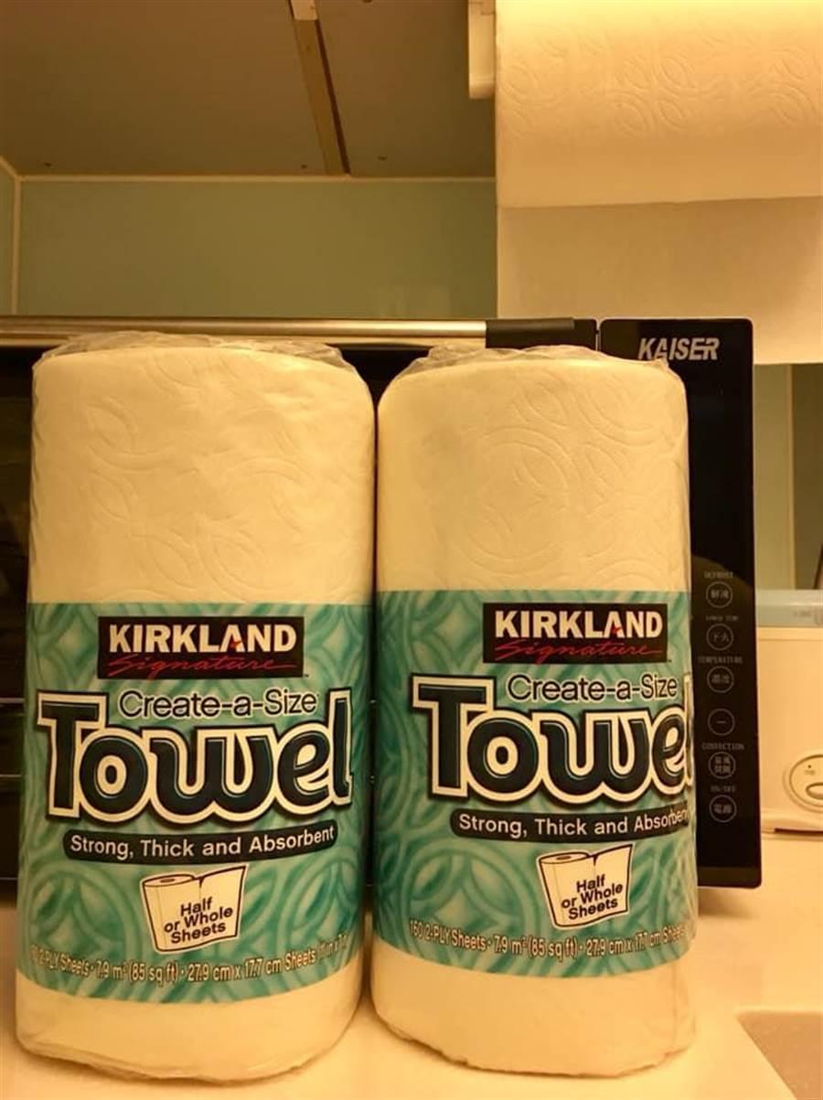 女網友分享這款廚房紙巾,竟能洗了再重複使用。(圖擷取自臉書《Costco好市多 商品經驗老實說》)