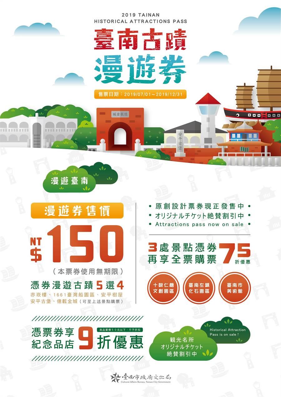 備受好評的台南古蹟漫遊券今年暑假推出最新優惠,讓您輕鬆玩更省荷包!(曹婷婷翻攝)