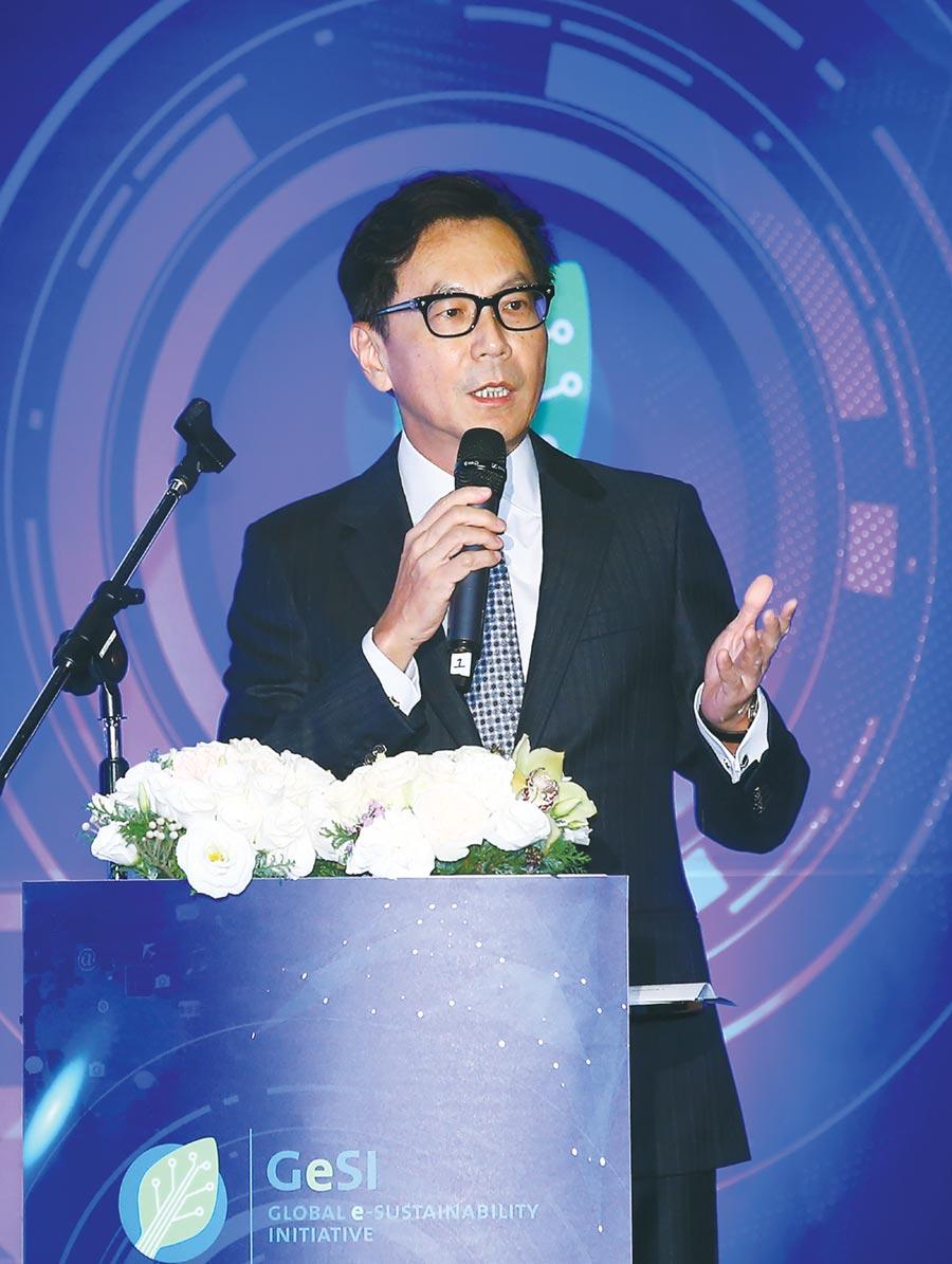 台灣大哥大領先國內電信業,通過堪稱全球最嚴格的SBTi審查,圖為台灣大哥大董事長蔡明忠。圖/本報資料照片