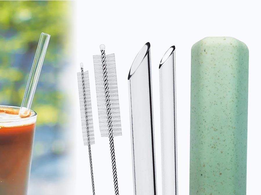 mocodo環保玻璃吸管5件組,特價259元。(台隆手創館提供)