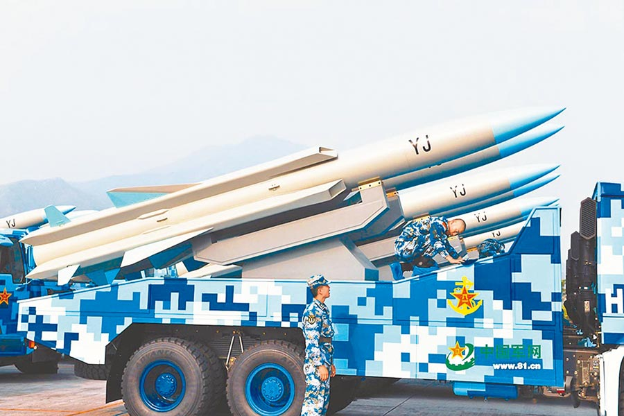 大陆鹰击-12反舰飞弹。(取自中国军网)