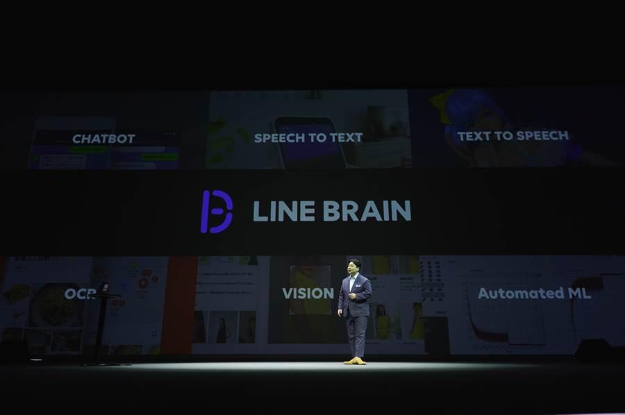 LINE BRAIN在 2019 年會中發表。(圖/LINE提供)