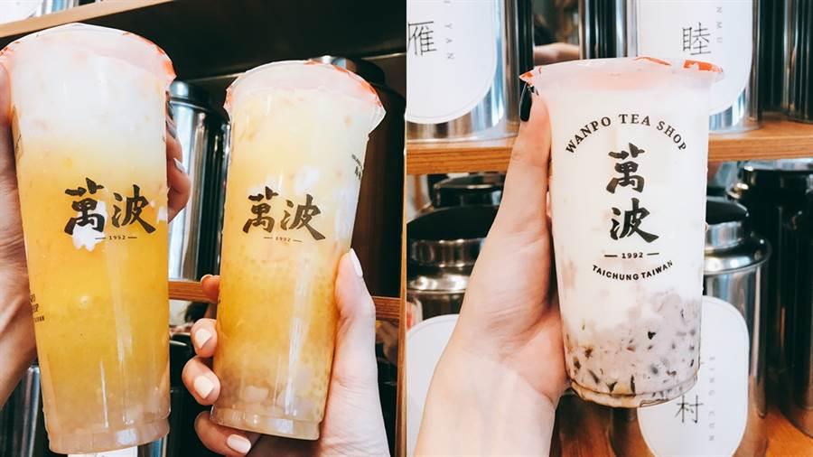 左:楊枝甘露,右:紅豆粉粿鮮乳。(圖/邱映慈攝影)
