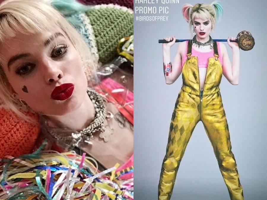小丑女的新造型。(圖/IG@Margot Robbie、justiceleaguenews)