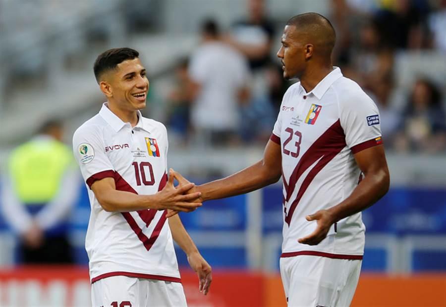 委內瑞拉3場賽事不敗。(達志影像)