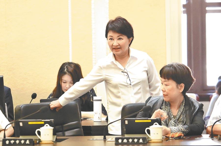 台中市長盧秀燕27日出席院會時表示,國道1號銜接台74線工程,希望交通部加速作業,盼今年底動工。(盧金足翻攝)