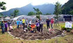 埔里榮民醫院種下700棵蜜源植物 讓社區
