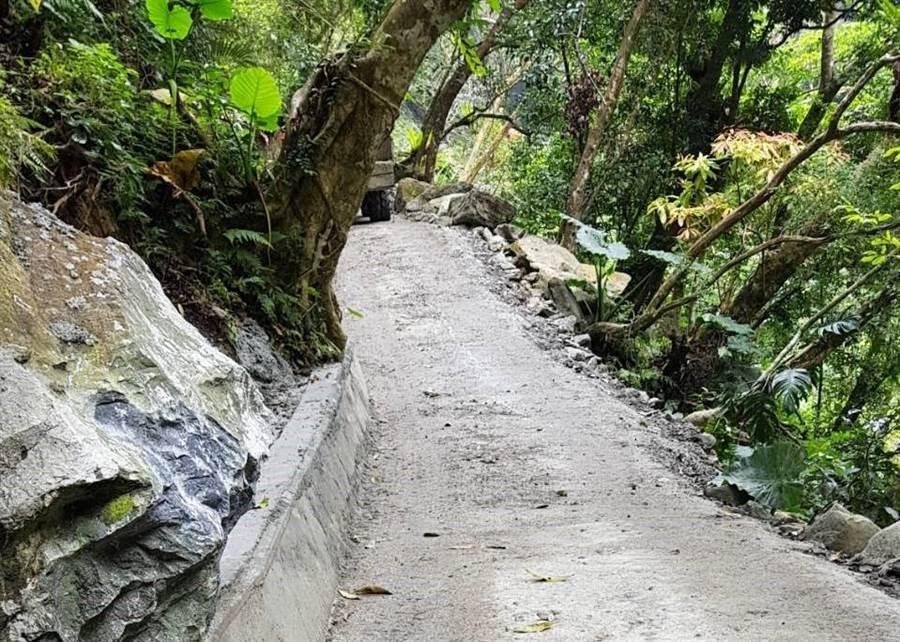 同禮部落步道改善工程,預計改善9公里道路,第一期工程今年完工,第二期工程水土保持計畫,預計最快後年動工。(秀林鄉公所提供)
