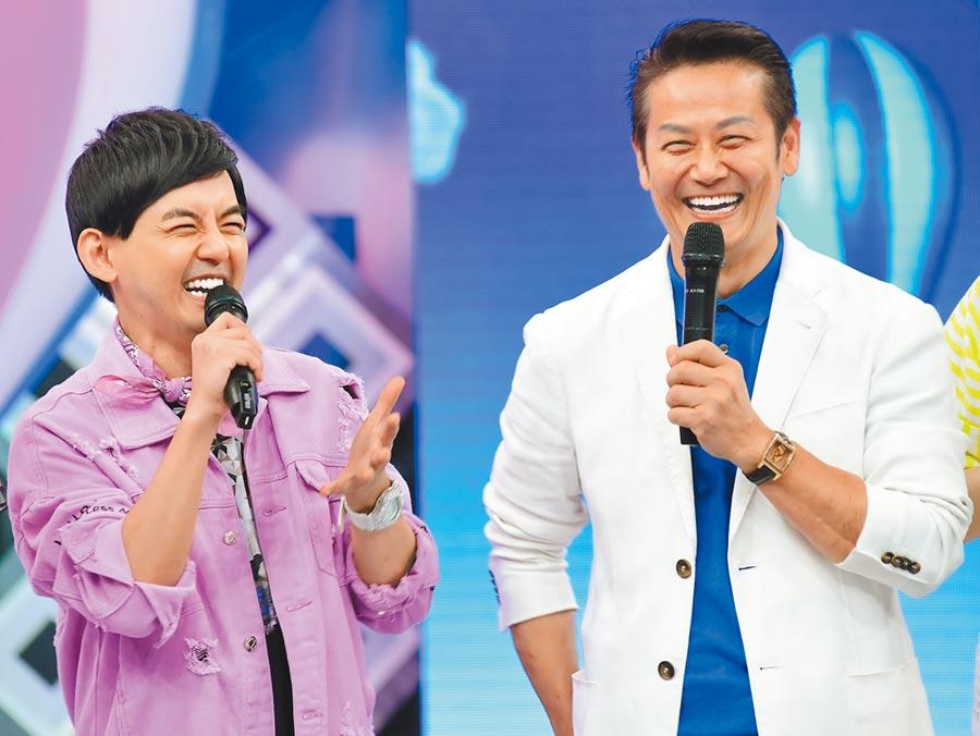 黃子佼(左)昨主持《超級同學會》,徐乃麟擔任來賓。