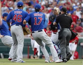 MLB》因觸身球板凳清空 小熊投手嗆普伊蠢貨