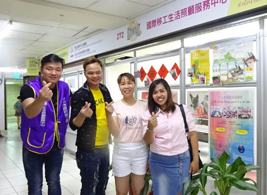 台中市府今年度持續針對泰國、菲律賓、印尼及越南移工開辦中文班,每周日上課5小時,總時數50小時。(盧金足攝)