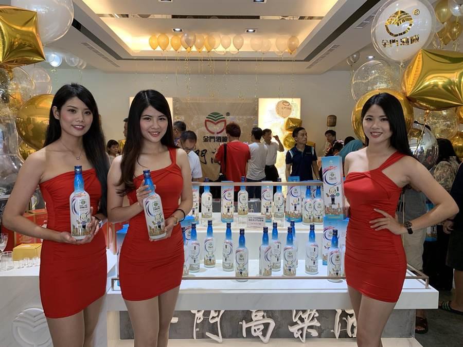 金門酒廠推出「韓國瑜高粱酒」,部分所得最高將捐出6000萬做公益。(柯宗緯攝)