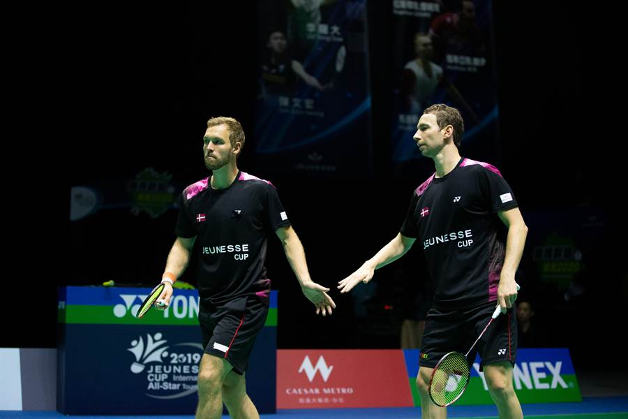 丹麥雙打組合鮑伊(右)、彼得森(左)。(海碩整合行銷提供)