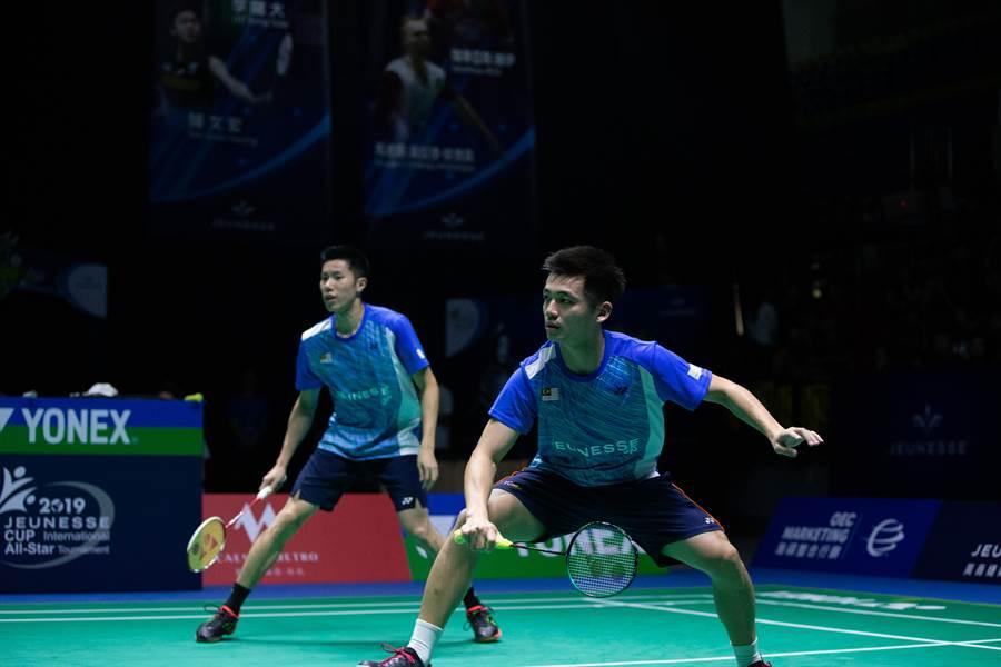 馬來西亞男雙組合陳蔚強(右)、吳蔚昇(左)看好「麟洋」潛力。(海碩整合行銷提供)