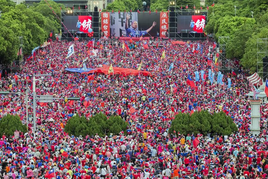 高雄市長韓國瑜「決戰2020 團結台灣」新竹場。(圖/本報系資料照)