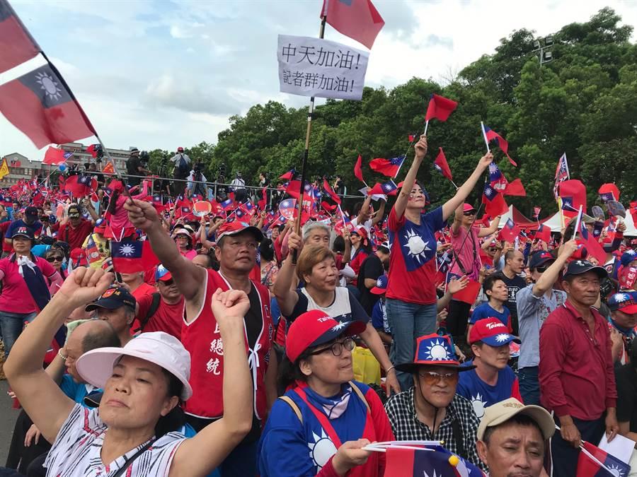 高雄市長韓國瑜新竹場韓粉突破25萬,提振韓國瑜在桃竹苗地區的人氣。(陳麒全/攝)