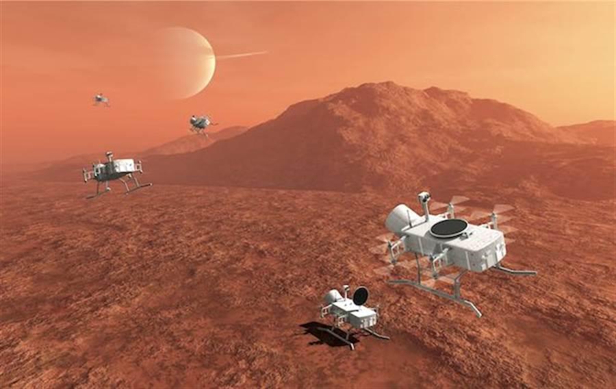 NASA希望2034年,蜻蜓號探測船能在土衛六上空飛行。(圖/NASA)
