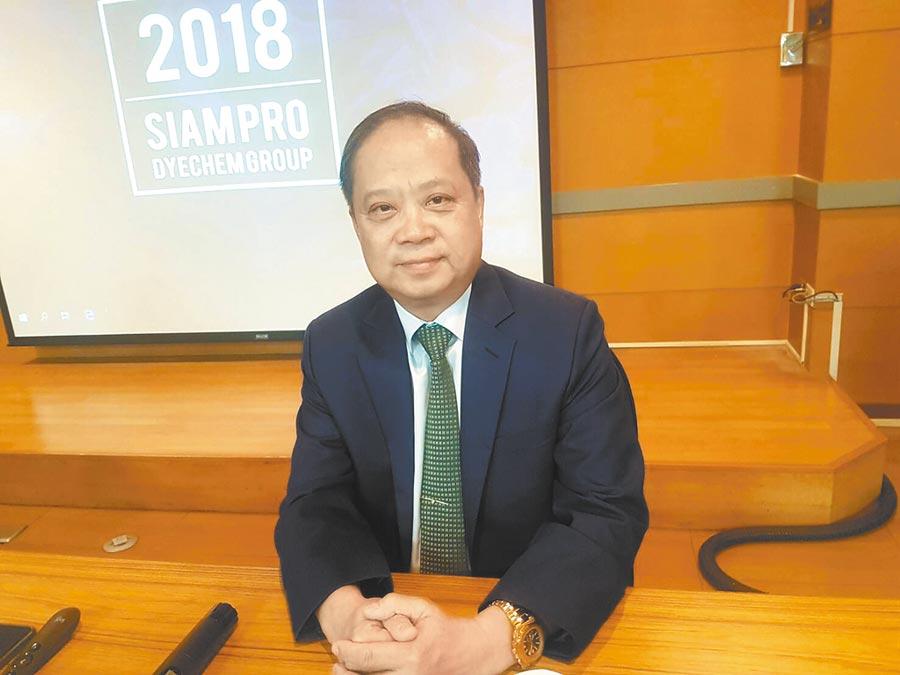 泰國台灣會館主席張文平。(記者許昌平攝)