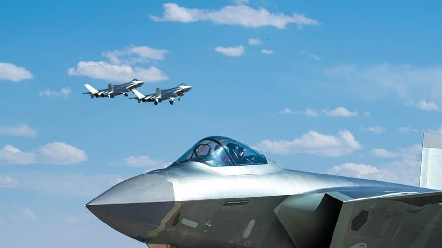 中共殲-20加速量產,4年內預計可達200架規模。(圖/新華社)