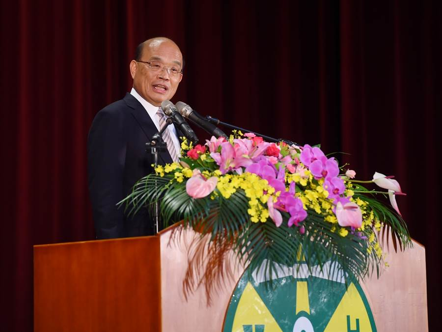 行政院長蘇貞昌1日上午出席財政部108年稅務節慶祝暨表揚大會。(圖/行政院)