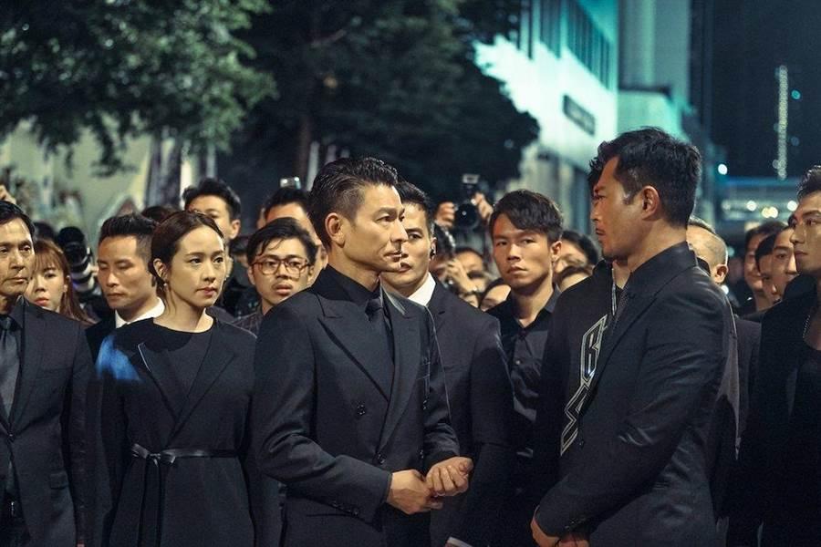 林嘉欣(左起)、劉德華、古天樂。(華映提供)