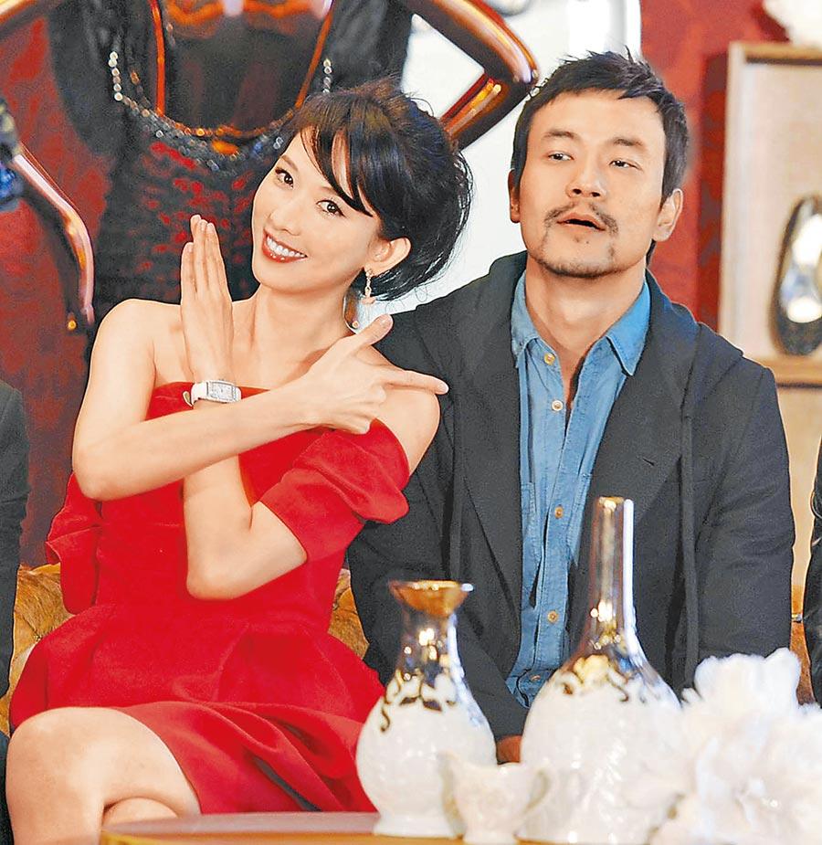 林志玲(左)和廖凡互飆演技。(資料照片)