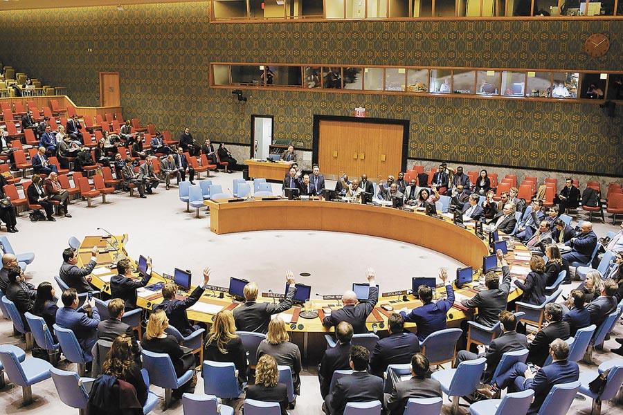 美朝和談北韓盼優先解除聯合國制裁。2018年3月21日,聯合國安理會將北韓制裁委員會專家小組任期延長至2019年4月24日。(中新社)