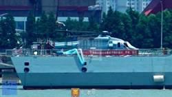 疑似直-20艦載型與055大驅進行匹配試驗