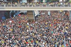 香港七一!55萬人上街頭 要求林鄭下台