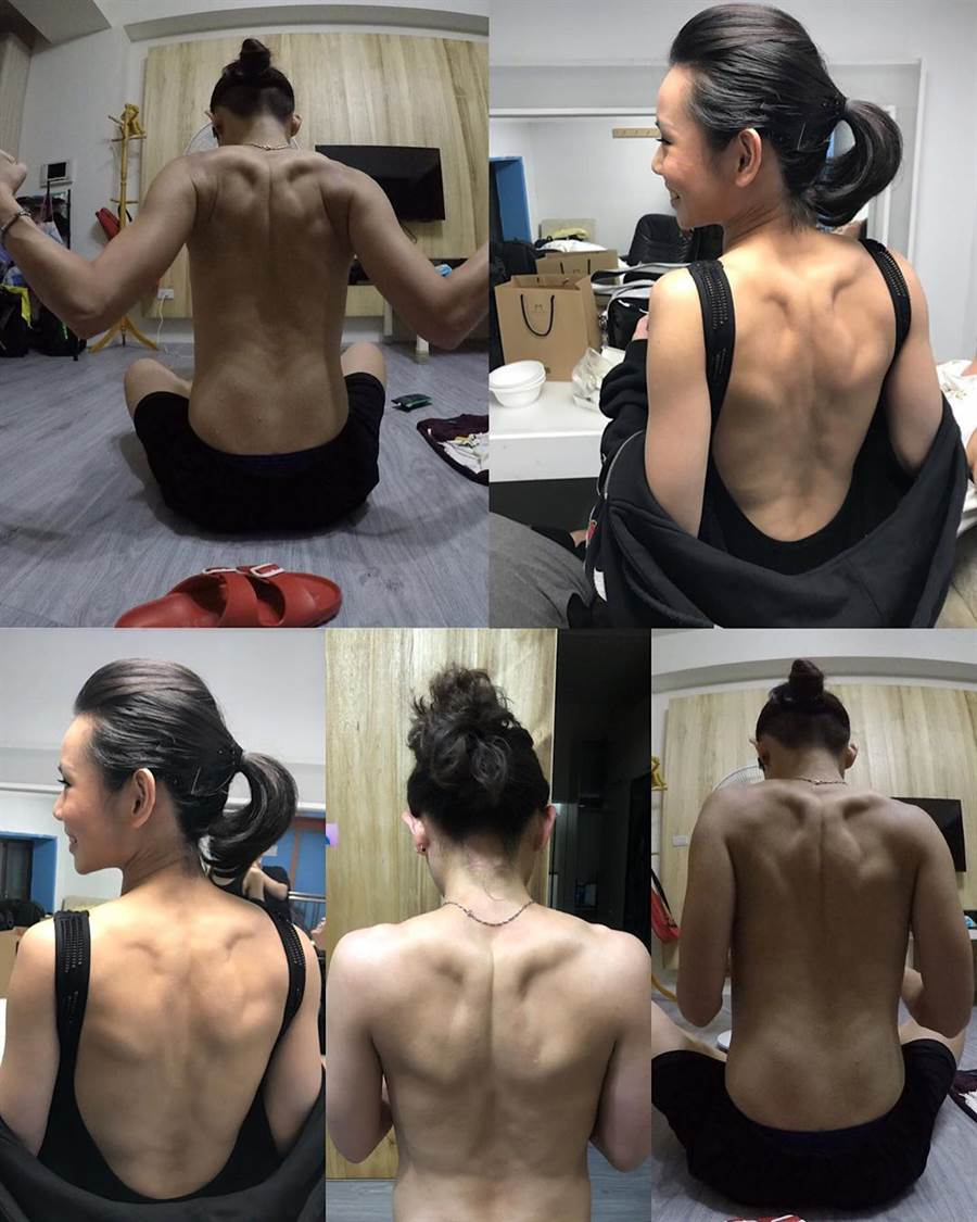戴資穎的背部肌肉線條也練得相當結實。(取自戴資穎IG)
