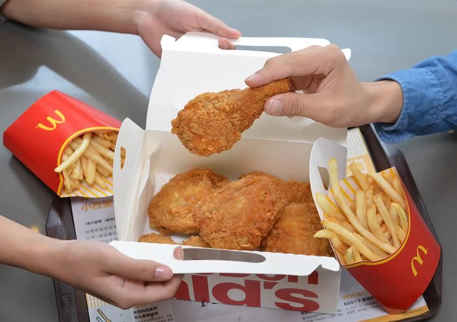 麥當勞針對雞腿控設計有「麥脆鷄腿分享盒」,適合三五好友一起分享。(圖/麥當勞)