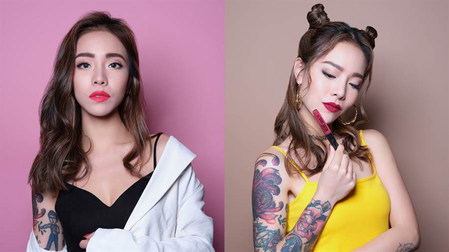 TAKCO示範色左:#600時尚派對,右:#800櫻桃戀曲。(圖/品牌提供)