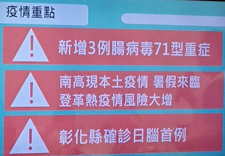 疾管署公布彰化縣出現今年首例日本腦炎。(陳志祥翻攝)